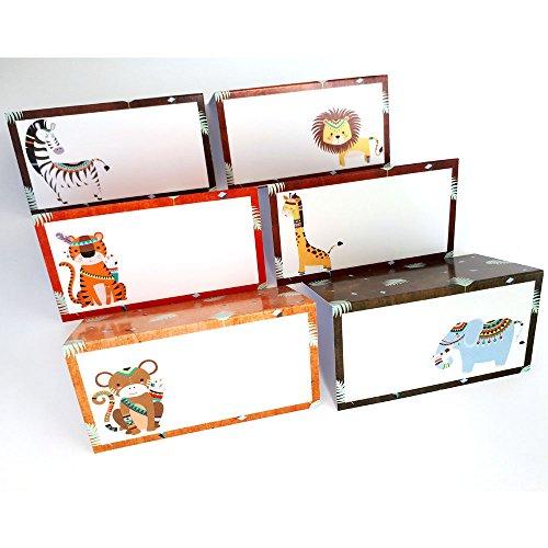 Adorebynat Party Decorations - EU Stammes Boho Dschungel-Safari-Tiere Platz Zelt-Karten - Geburtstags-Babyparty-Partei-Karte - Satz von 12