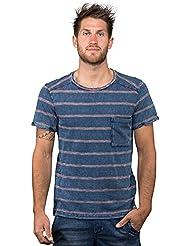 Chillaz Street Logo–Camiseta de, Otoño-invierno, hombre, color denim red stripes, tamaño medium