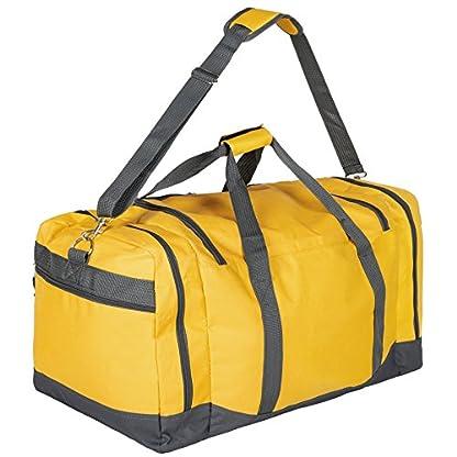 TecTake Bolsa de deporte bolso de viaje con correas de transporte equipaje 70x35x35cm – disponible en diferentes colores –