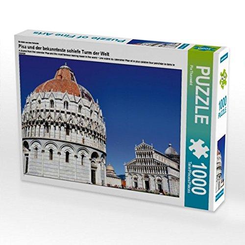 Ein Motiv aus dem Kalender Pisa und der bekannteste schiefe Turm der Welt 1000 Teile Puzzle quer -