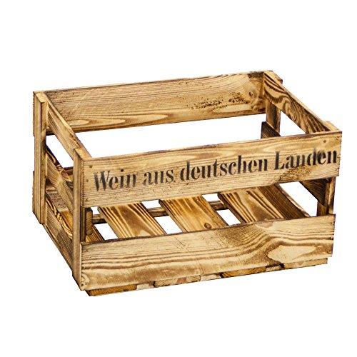 """Weinkiste \""""Wein aus deutschen Landen\"""" Neu oder Geflammt (Einzelset, Geflammt)"""