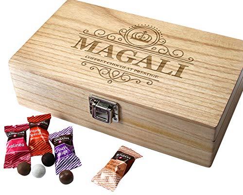 Coffret gravé Prestige de chocolats Monbana