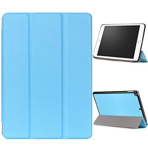 """WindTeco Hülle für Neu iPad 9.7 Zoll 2017 - Ultra Dünn Slim-Fit Smart Hülle Schutzhülle Tasche mit Einschlaf / Aufwach Funktion für New Apple iPad 9.7"""" IOS 10 Retina Display Tablet, Blau"""