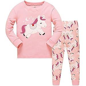 Niña Pijamas Precioso Unicornio 100%