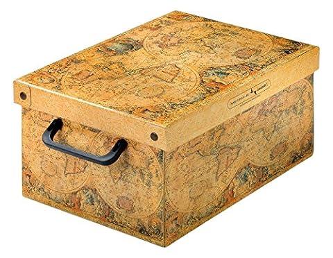 Kanguru 026 MP Baulino Marco Polo Boîte de Rangement en carton plastifiée Multicolore 35 x 25 x 17,5 cm