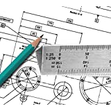 Dream Xplore® Stainless Steel Triangle Scale Ruler 30 cm/12-inch Architectural Scale Ruler, Scale Ruler for Blueprint, Triangle Scale, Drafting Ruler, Architecture Ruler