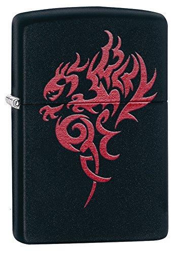 Zippo Hidden Dragon Lighter - Mechero, color negro mate