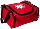 Dixie EMS First Responder Fully Stocked Trauma First Aid Kit, Red