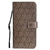 DENDICO Funda LG G7, Premium Flip Libro Cuero Carcasa, Carcasa PU Leather con TPU Silicona Protección Carcasa para LG G7 - Marrón