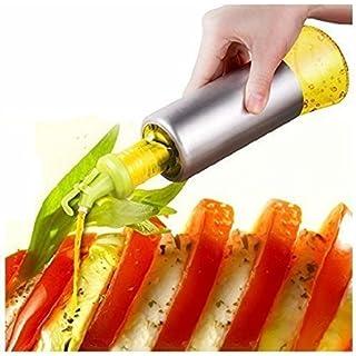 Alicemall 304 Edelstahl Ölflasche Essigflasche Olivenöl Ketschup Würzsauce Küche Flasche Glas 320ml (Hellgrün)