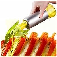 Alicemall Cuisine Huilier et Vinaigrier Distributeur d'Huile d'Olive en Acier Inox 304 Bouteille d'Huile Pimentée Bouteille de Vinaigre Distributeur d'huile Balsamique Sauce Soja 320ml(Vert)