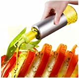 Alicemall 304 Edelstahl Ölflasche Essigflasche Olivenöl Ketschup Würzsauce Küche Flasche Glas 320ml ( Hellgrün )