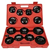 CICMOD KFZ 14 tlg. Ölfilterkappen Ölfilterschlüssel Ölwechselwerkzeug Öldienstschlüssel Ölfilterkartuschen Ölfilter Werkzeug Set