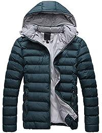 SODIAL (R) 2014 Hombres Caliente Abrigo con capucha sudadera abrigo anorak invierno chaqueta abajo…