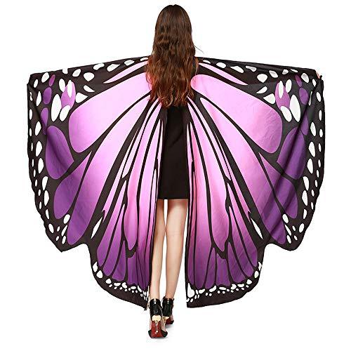 YBWZH Kostüme Karneval Kostüm Damen Schmetterling Umhang Kostüm Schmetterlingsflügel Tanzzubehör Cosplay Schal Kostüm Poncho Zubehör für Show/Daily/Party Tanzkostüm Bühne Kleidung