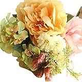 ODJOY-FAN 1 Strauß Kunstblumen Pfingstrose Künstliche Blume Künstlich Die Seide Fälschung Blumen Pfingstrose Blumen Hochzeit Strauß Braut Hortensie Dekor (B,1 PC)
