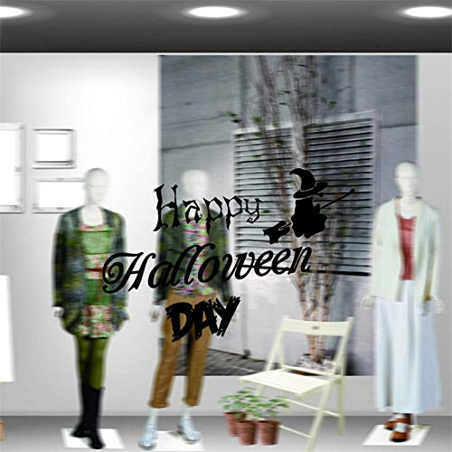 30 Cm Halloween PVC-Wand-Aufkleber-Karikatur-Hexe-Muster-Dekorations-Speicher-Fenster-Dekorations-Partei-Stab-Wandkunst-Abziehbilder ()