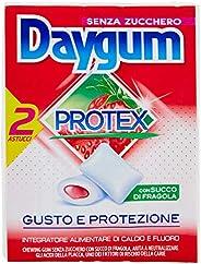 Daygum Protex Fragola Gomme da Masticare Senza Zucchero, Chewing Gum Gusto Fragola, 2 Astucci
