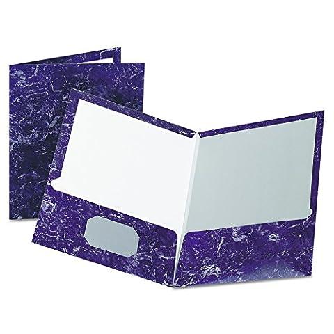 Oxford 51626 Marble Design Laminated Two-Pocket Portfolios, Purple, 25 per