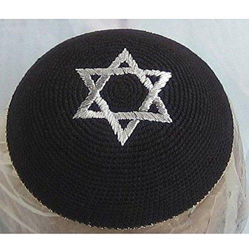 Top-Judaica 17cm 16,8cm Jüdische Kippa Yarmulke Yarmulka Mütze Star von David Gap Kippa