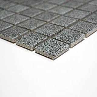 Rutschhemmend R10 Bodenfliesen Mosaik Keramikmosaik Für Bäder / Duschen  (klein, Steingrau Uni)