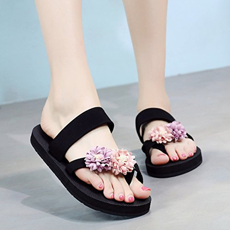 FLYRCX Estate moda di svago all'aperto a fondo piatto piede piede piede infradito sandali sandali sandali ladies' cool pantofole... | Il Prezzo Di Liquidazione  a3dca2