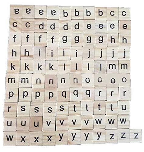 Unbekannt 100 stücke Holz Alphabet Scrabble Fliesen Buchstaben Zahlen Kinder pädagogisches Spielzeug für brettspiele Hochzeit Rahmen wandkunst ersatz Handwerk schmuck Scrapbooking (Kinder Brettspiele Für Pädagogische)