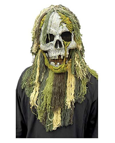 Horror-Shop Sumpf Zombie Vollmaske für Halloween