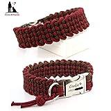 Paracord Halsband - Knitted, Hundehalsband, wahlweise mit Gravur und weiteren Extras
