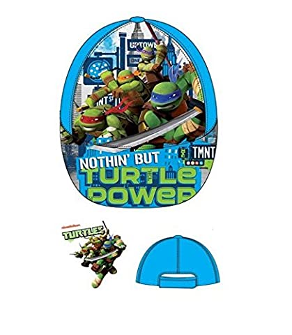 TMNT Boys Kid's Teenage Mutant Ninja Turtles Character Summer Sun Hats Baseball Caps (Sizes 52 cms Ages 3-6, 54 cms Ages 7-10) (54cms Ages 7-10, Turquoise QE4132)