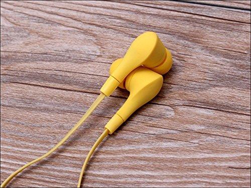 Écouteurs intra-auriculaires antibruit jaune sport casque écouteurs Mains libres écouteurs intra-auriculaires 3,5mm W/appel mains libres Mic. Compatible avec Apple iPhone 6S