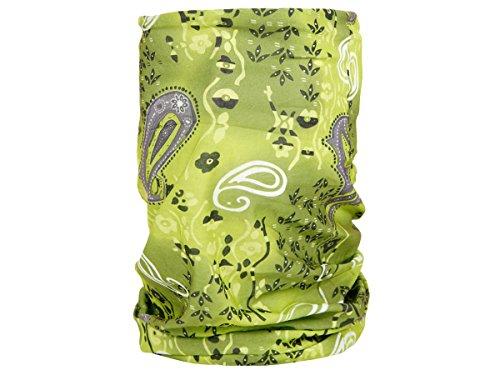 Foulard fazzoletto da collo sciarpa funzionale multiuso scaldacollo tubolare leggero e morbido estate primavera autunno inverno loop anello ragazze colorati stola accessorio moderno lifestyle, Multituch MF-174-221:MF-196 Paisley verde