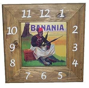 Horloge murale Banania 27x27 cm