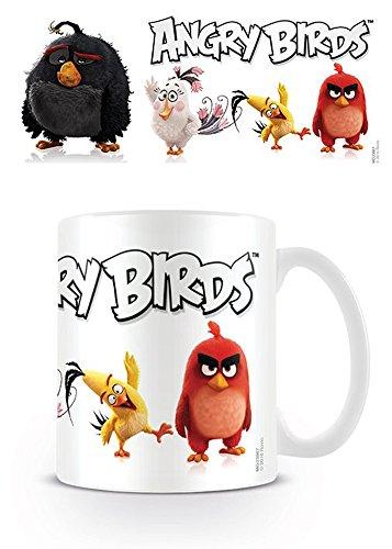 Empireposter – Angry Birds – Line Up – Taille (cm), env. 8,5 cm Hauteur 9,5 – Licence Tasses, NEUF – Description : – Mug en céramique, blanc, imprimé, capacité 320 ml, licence officielle, Passe au Lave-Vaisselle et au micro-ondes de