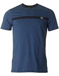 Fred Perry T-Shirt Fine Stripe Blanc M3568-129