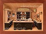 3D Holzbild Apotheke, lasiert