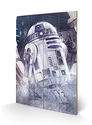 PYRAMID - Panneau en Bois Star Wars EP8 R2-D2 Droid