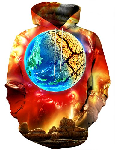 Wolf Robe (LAIDIPAS Personality Mens Wolf Hoodie Pullover Graphic Sweatshirts mit großen Taschen L)