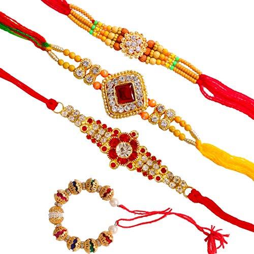 SUNINOW Designer Rakhi Set(Pack of 4)