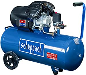 Scheppach Kompressor HC100DC, 230 V, 50 Hz, 2200 W, 1 Stück, blau / schwarz, 5906120901