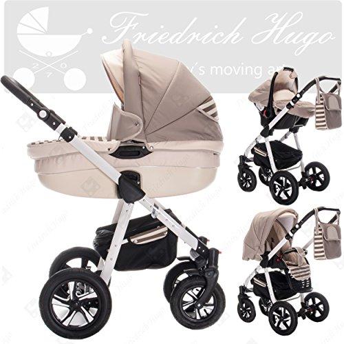 Friedrich Hugo Mandala | 3 in 1 Kombikinderwagen | Kinderwagen, Buggy, Autositz Latte Macchiato