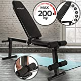 Banc de Musculation - Réglable & Pliable - Charge max. 200 kg -...