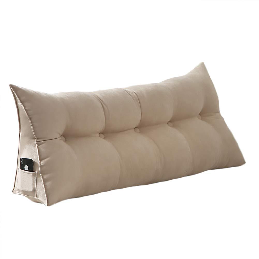 VERCART cuscino di lettura cuscino comodo triangolare letto divano  sfoderabile in velluto 60 cm Beige, Velluto, beige, 120 cm | CasaMe