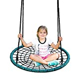 #4: Spider Web Tree Swing - 40 Inch Diameter, 600 lb Weight Capacity, Fully Assembled, Easy to Install by Play Platoon
