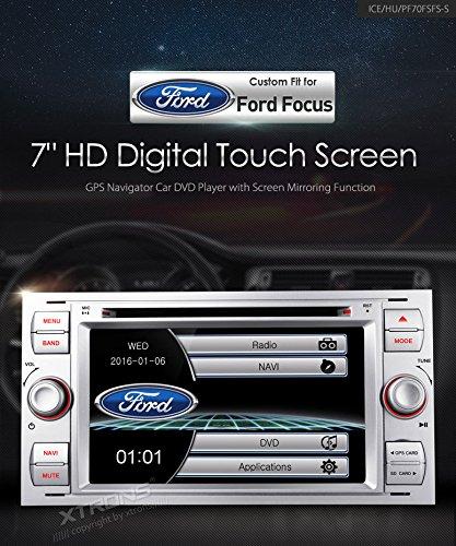 xtrons® Plata 7Pulgadas HD de pantalla táctil estéreo del coche reproductor de...