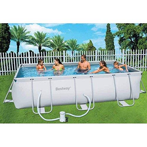cadre exte'rieur piscine hors sol cm. 404X201x100h pompe 2006lt / h 56251