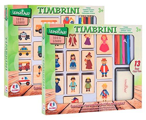 Globo Toys 96.067,9cm legnoland Holz Stempel mit Pad und 6Farbe Bleistift (13) - Nerf Hubschrauber