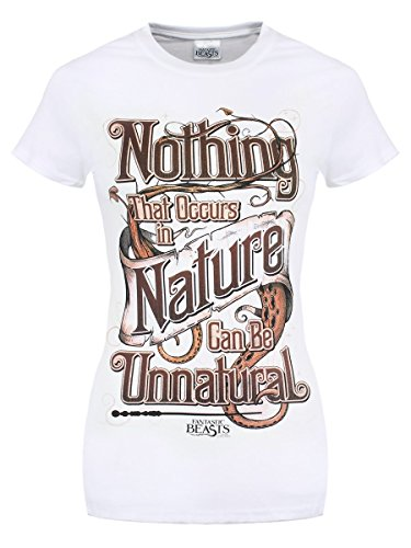 Fantastic Beasts and Where to Find Them T-Shirt Natural da donna in bianco