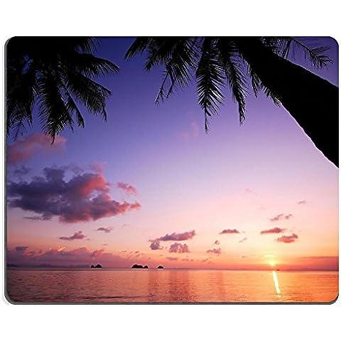 Liili Mouse Pad-Tappetino per Mouse in gomma naturale, motivo: tramonto sulla spiaggia Thailandia fondo da viaggio, in fibra di cocco naturale ID 13106102 immagine