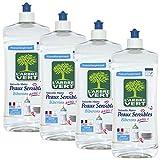 L'Arbre Vert Liquide Vaisselle Peaux Sensibles Biberons 750 ml - Lot de 4